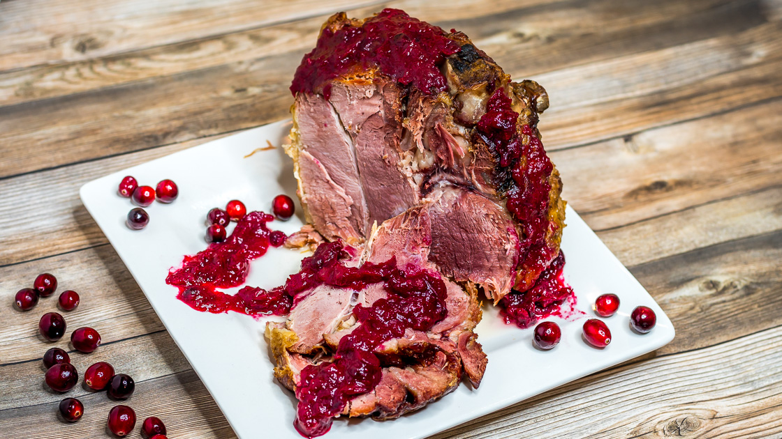 Instant Pot Maple Ham with Homemade Cranberry Sauce-3