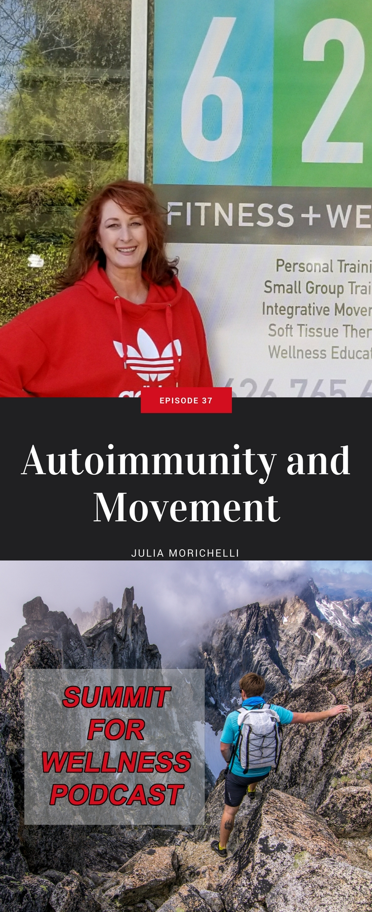 Julia Morichellie is a fitness trainer in California who has autoimmune diseases and helps others to work and move with their autoimmune issues