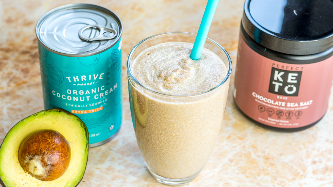 This Keto Chocolate Sea Salt Smoothie uses Perfect Keto Exogenous Ketones to make this a tasty low carb smoothies