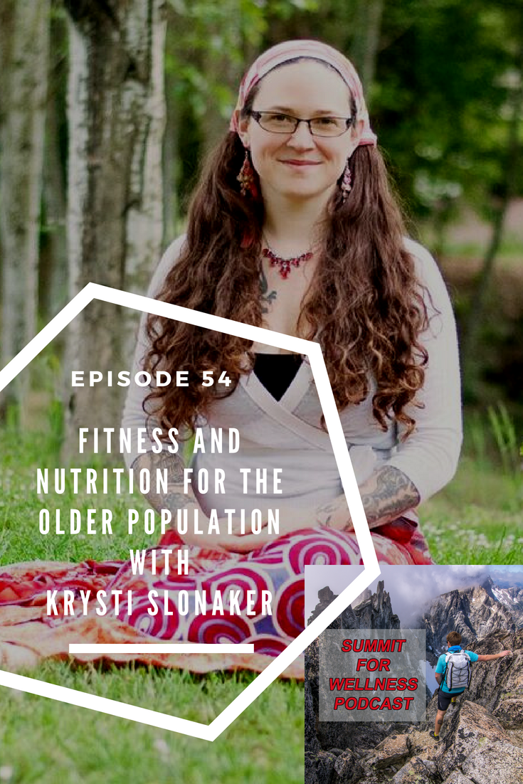 Krysti Slonaker helps the older population to improve their fitness and receive the correct nutrients for optimal health
