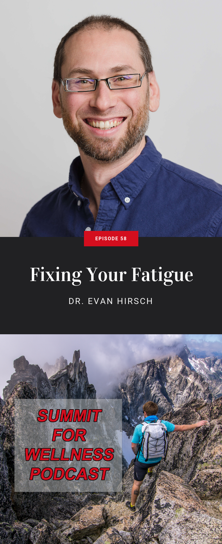 Dr. Evan Hirsch teaches his 4 step process to beating chronic fatigue