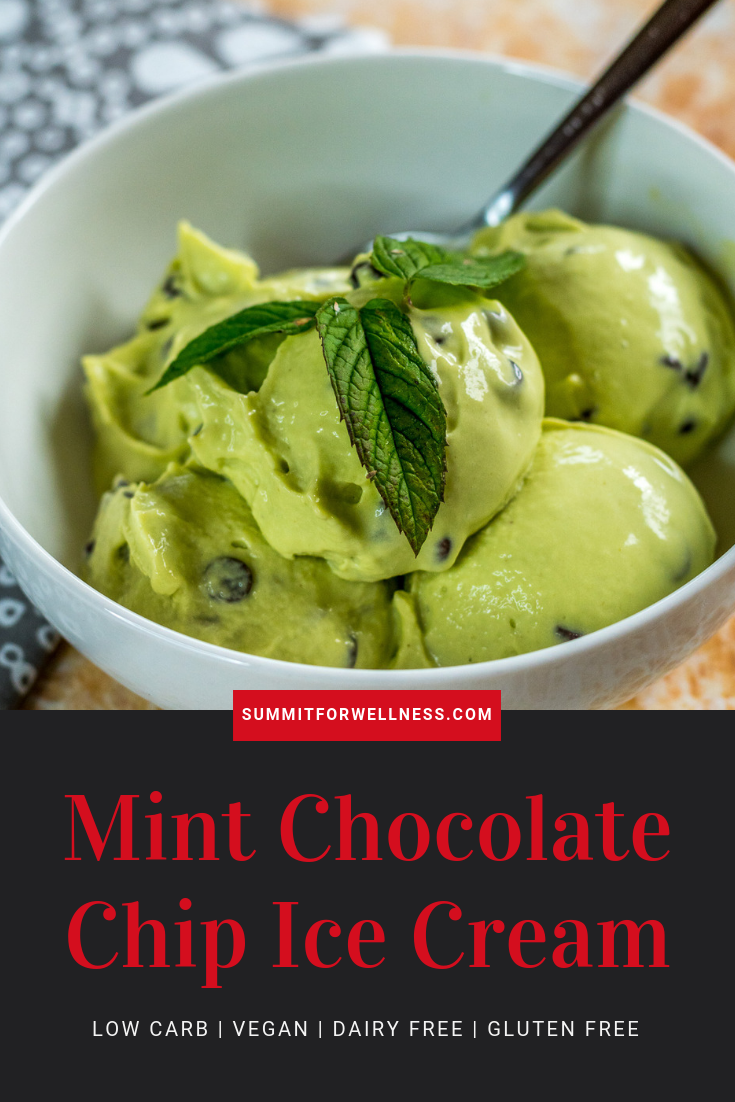 This Mint Chocolate Chip Ice Cream is Dairy and Gluten Free, and supplies lots of good fats for the body.
