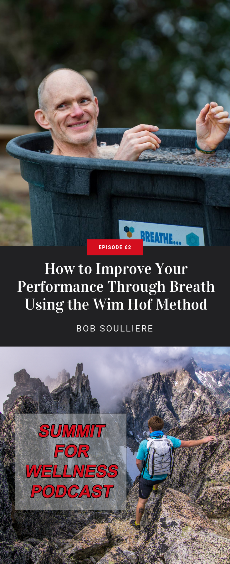 Bob Soulliere teaches us how the Wim Hof Method improves our ability to control our breath so we can increase our performance and learn how to relax.
