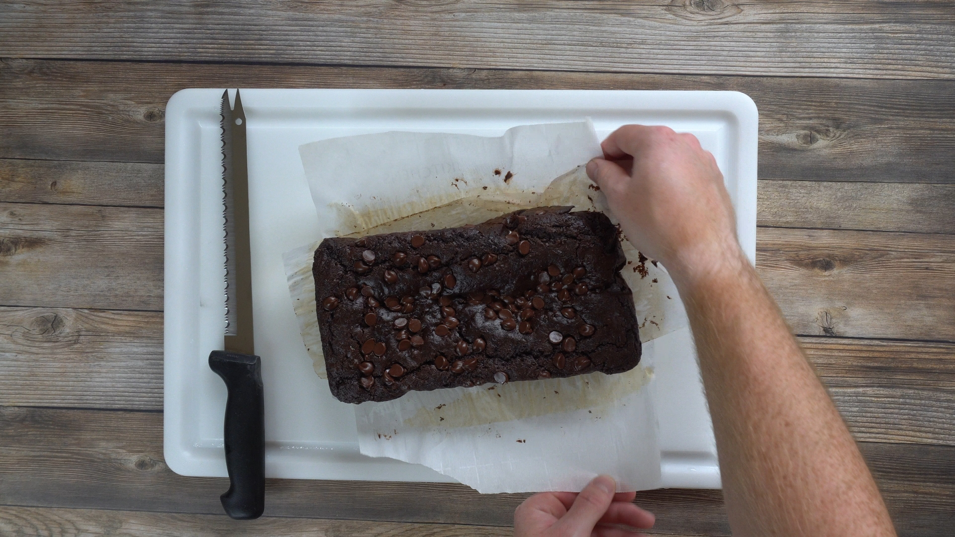 The Power Packed Paleo Chocolate Zucchini Bread right out of the oven