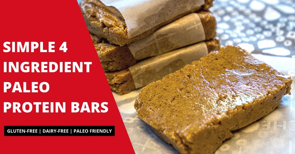 Simple 4 Ingredient Paleo Protein Bars
