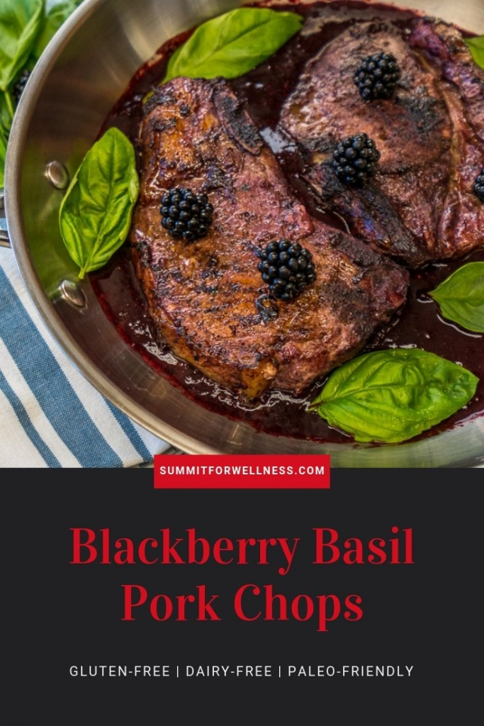 Learn how to make these sweet and savory Blackberry Basil Pork Chops