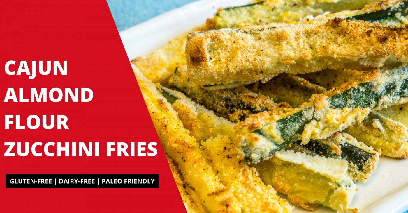 These tasty Cajun Almond Flour Zucchini Fries are simple to make and go great with you main meals!