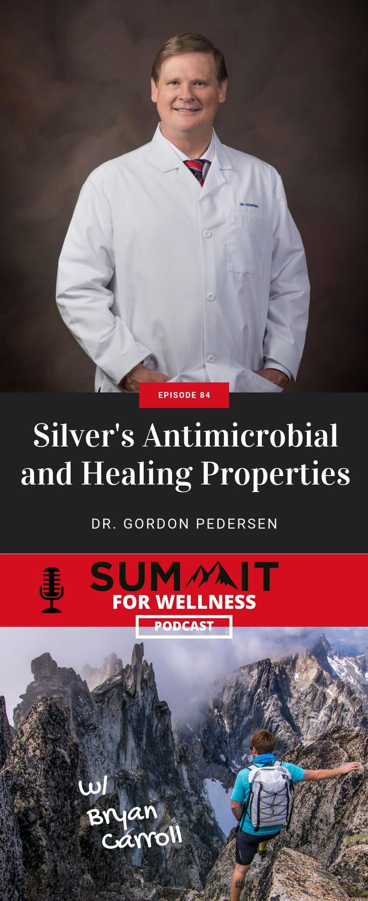 Dr. Gordon Pedersen uses silver as an antimicrobial agent to fight off bacteria, viruses, and fungus.