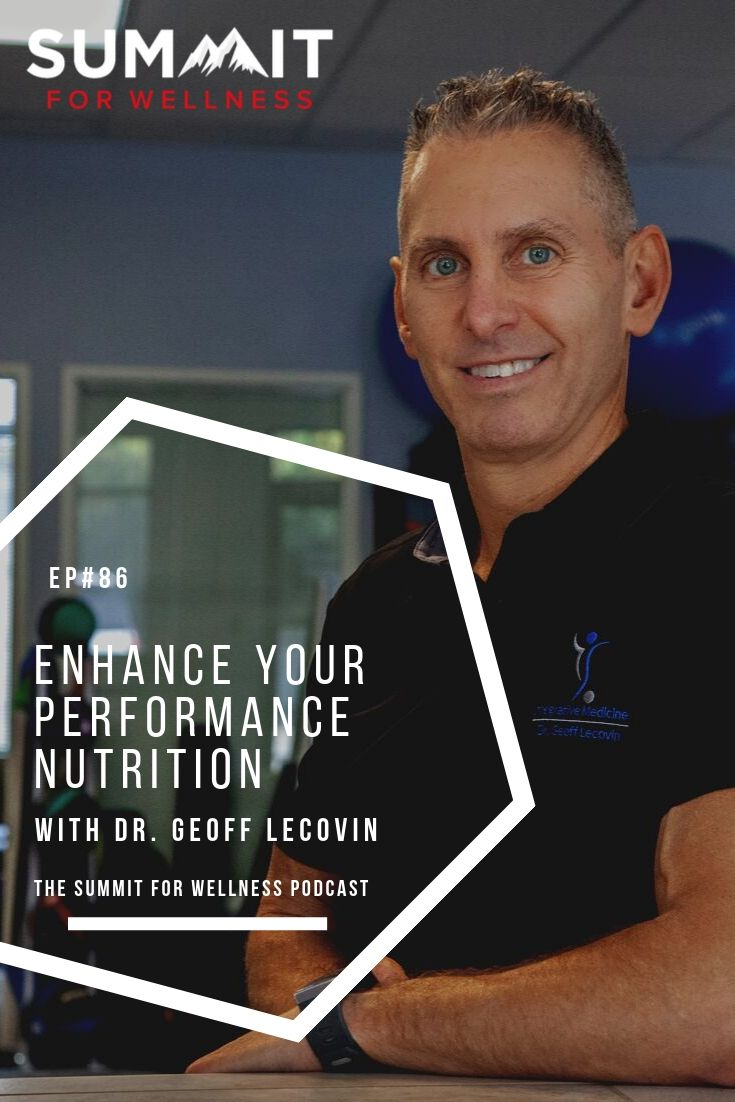 Dr. Geoff Lecovin teaches us how to create a nutrition plan to improve performance