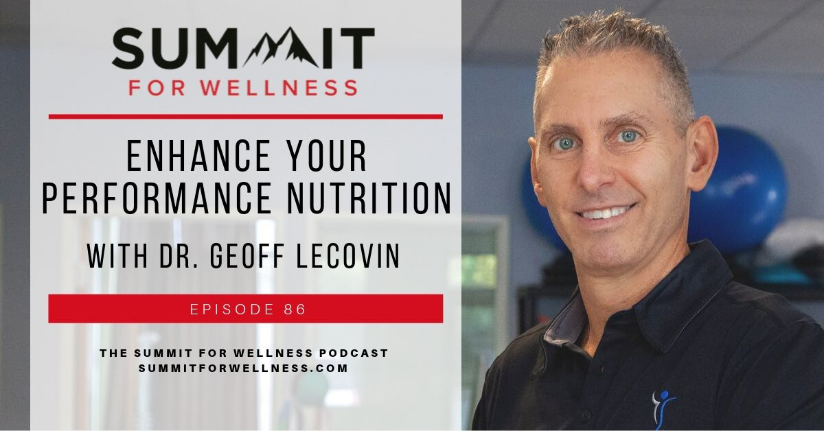 86- Enhance Your Performance Nutrition with Dr. Geoff Lecovin