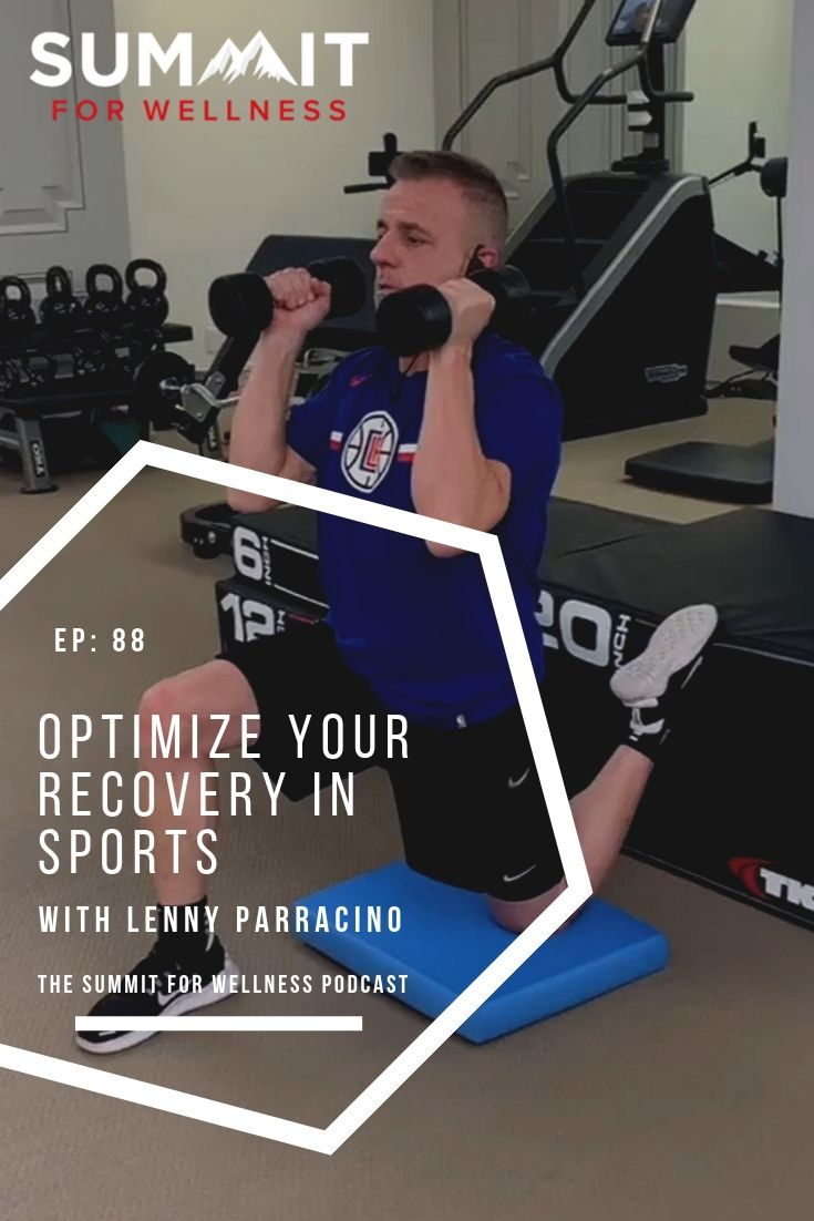 Lenny Parracino teaches different ways to recover better from sports and athletics