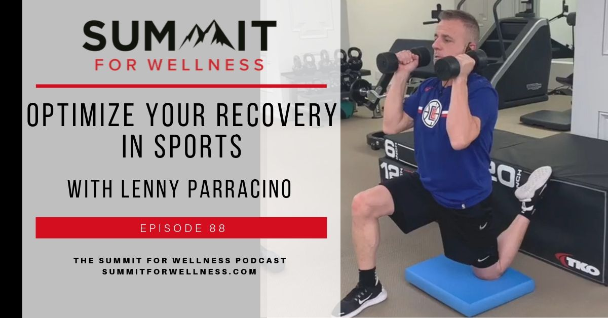 Lenny Parracino teaching how to optimize sports recovery