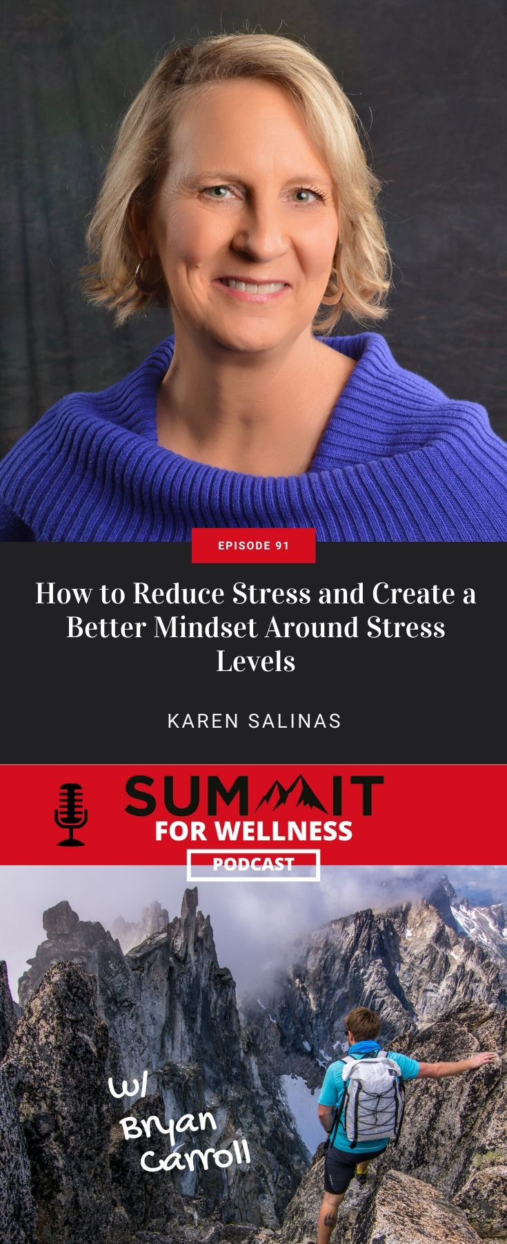 Karen Salinas teaches how to change your mindset around stress and to take care of your stress levels first.
