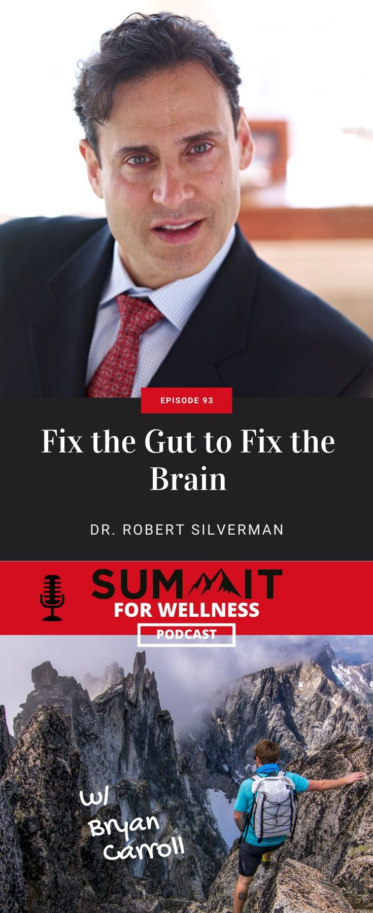 "Dr. Robert Silverman teaches how the gut is connected to the brain, and when the gut is ""leaky"" then the brain can experience issues as well."