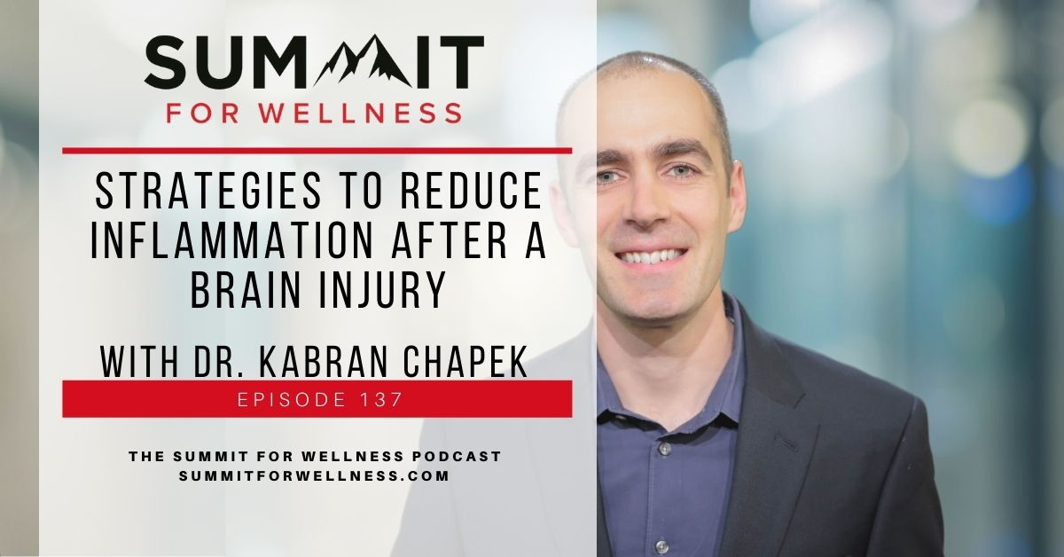 Dr. Kabran Chapek brainstorms with Bryan Carroll about ways to reduce inflammation after a brain injury.