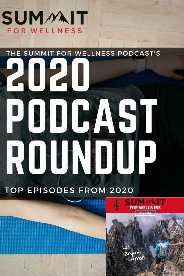 These are the top 5 podcast episodes from 2020 for the Summit For Wellness Podcast