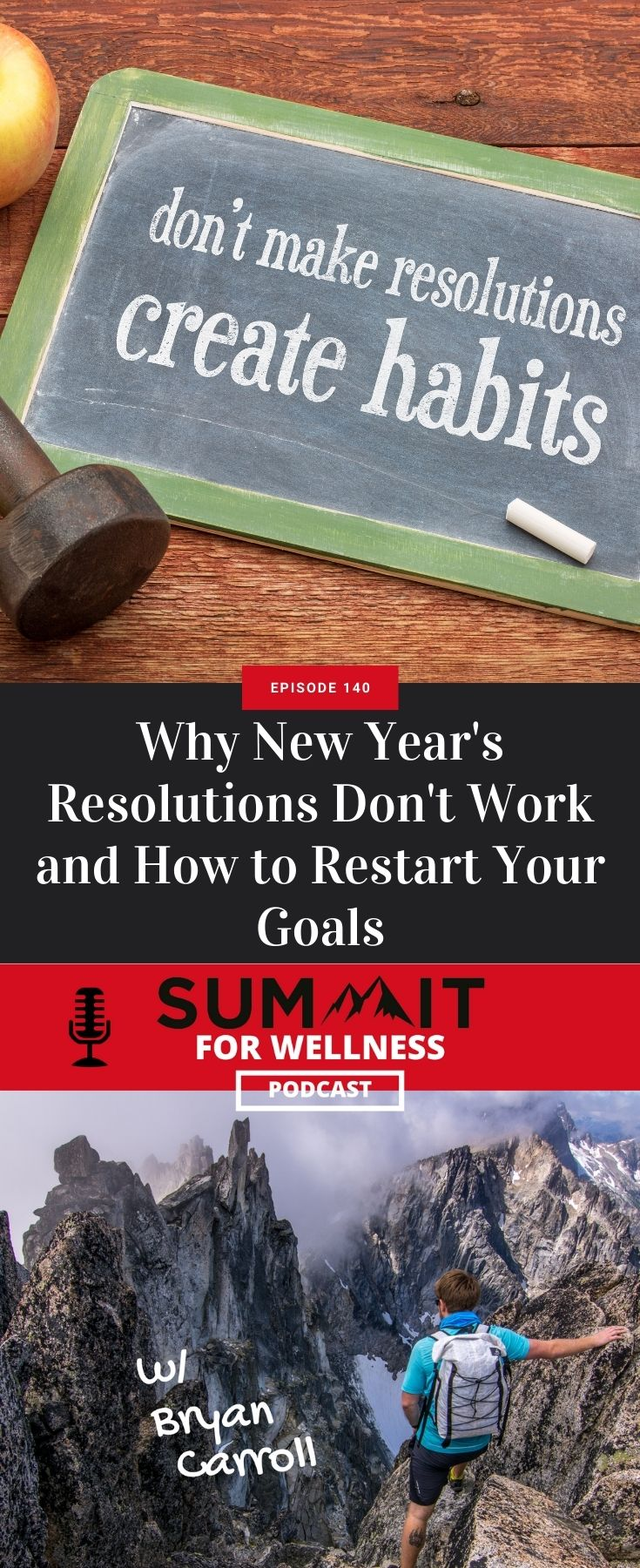 Learn from Bryan Carroll why New Year's Resolutions don't work and how to make achievable goals instead