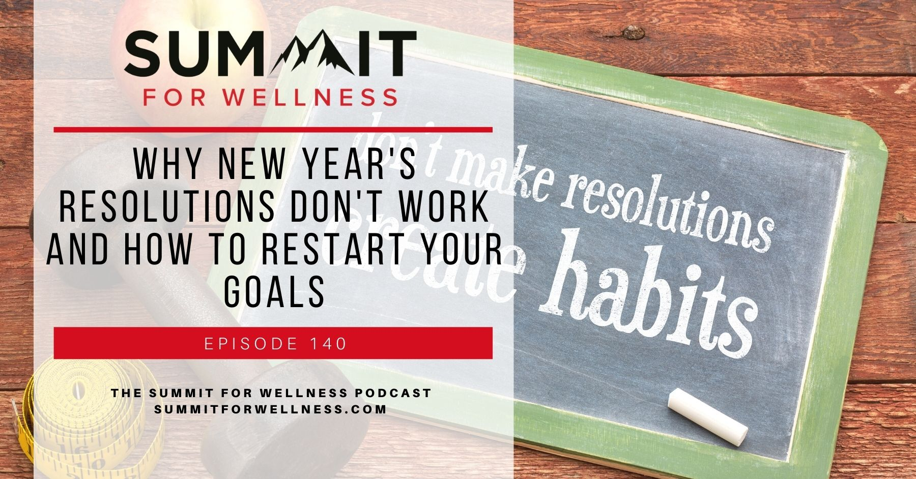 Learn why New Year's Resolutions don't work, and how to make actionable goals instead