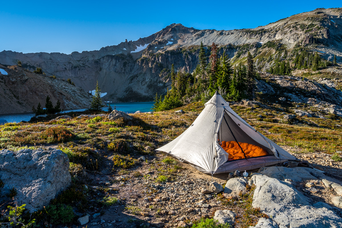 Campsite towards the outlet of Circle Lake
