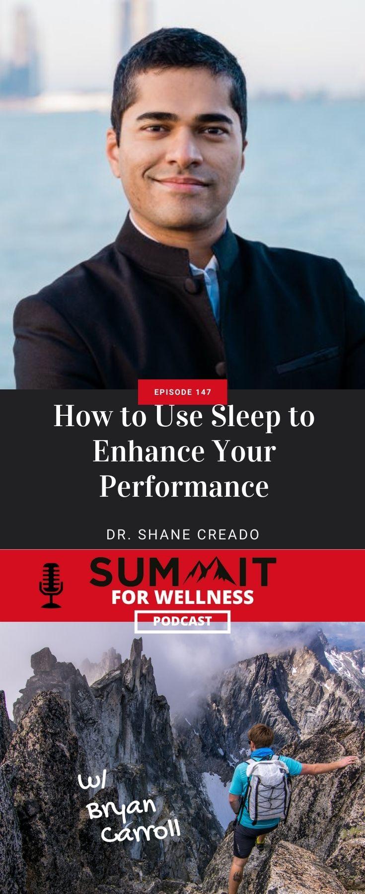 Dr. Shane Creado shares ways to improve your quality of sleep