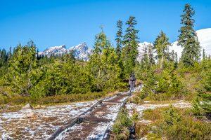First views of Mt Baker