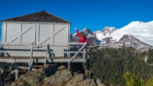 Park Butte Lookout with Mt Baker in the background