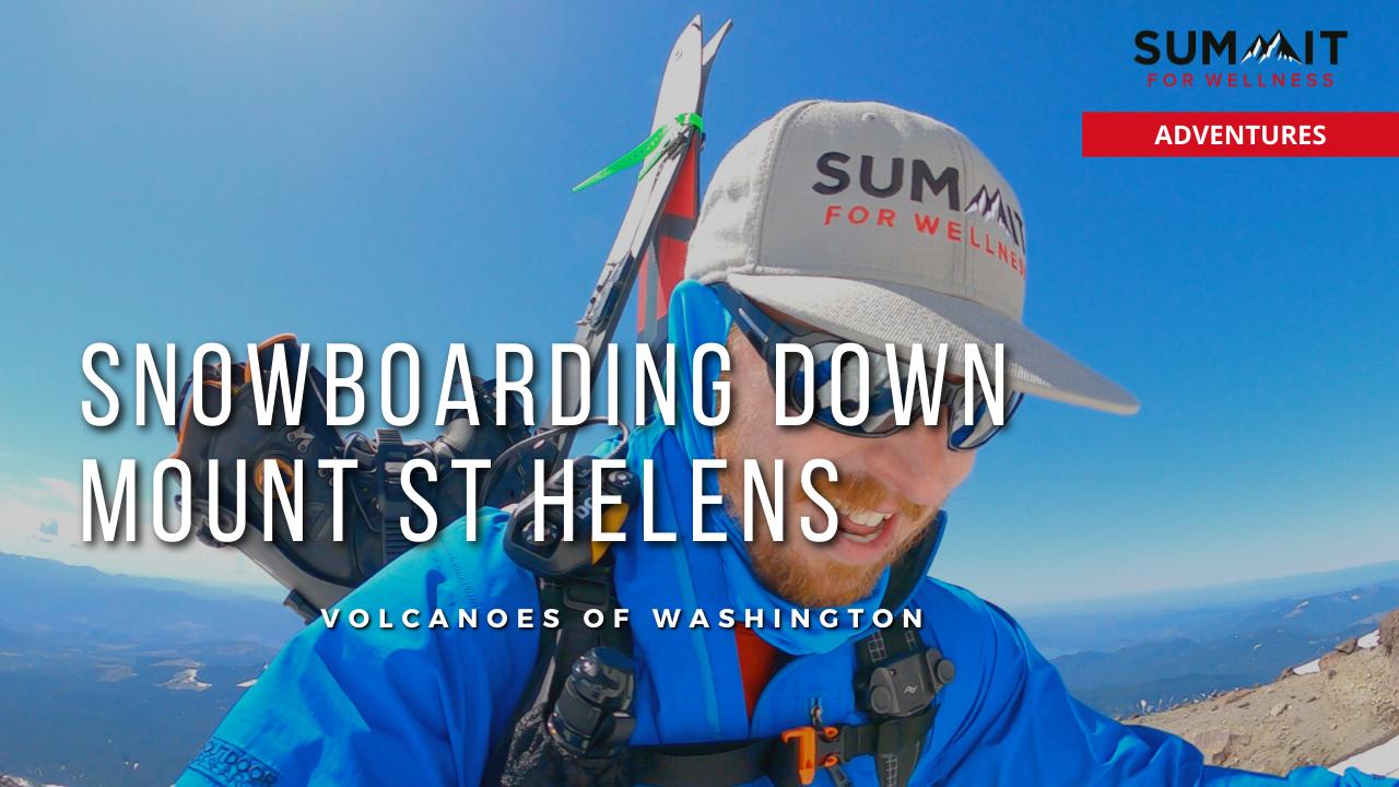 Bryan Carroll Snowboarding down Mt St Helens