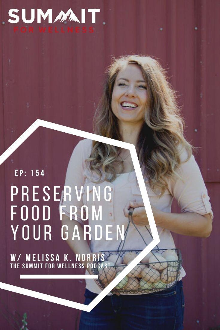 Melissa K. Norris teaches long term storage techniques to preserve food.