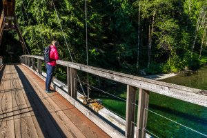 The first bridge on Middle Fork Snoqualmie Trail
