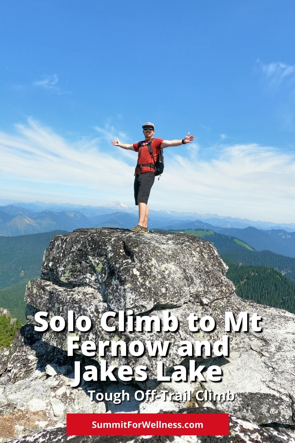 Climb to the top of Mt Fernow via the Jakes Lake route