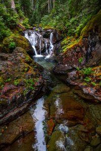 Waterfalls along Owyhigh Lakes Trail