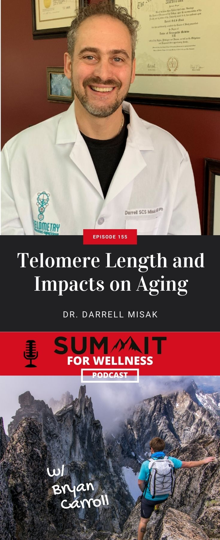 Dr. Darrell Misak teaches about the importance of telomeres and how it impacts aging.