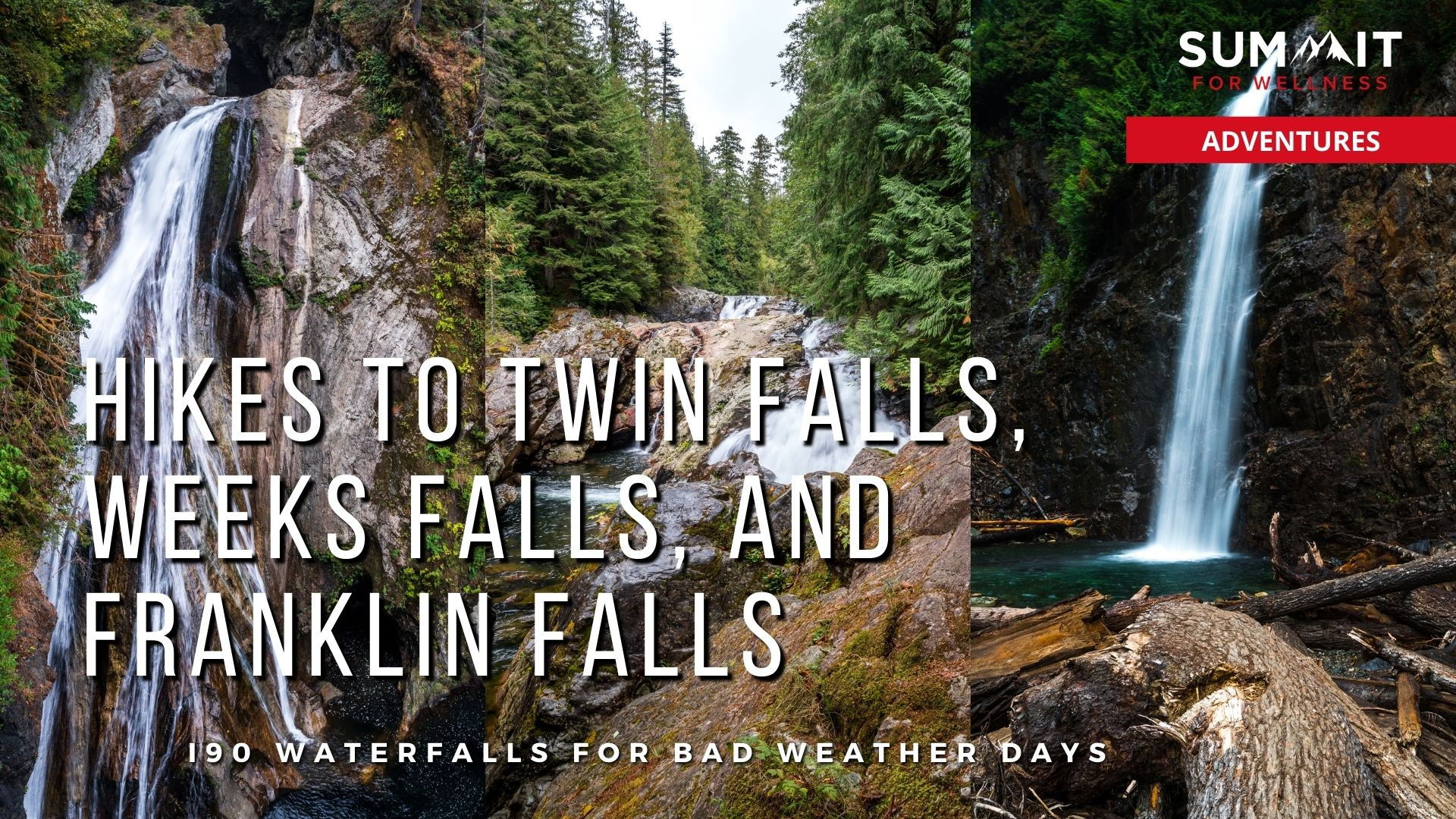 Day hike out to Twin Falls, Weeks Falls, and Franklin Falls in one day